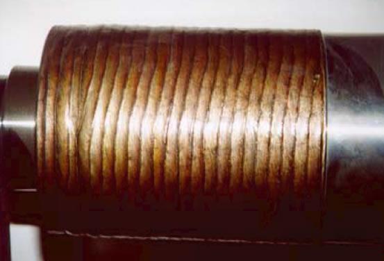 Износостойкая наплавка валков непрерывной разливки стали