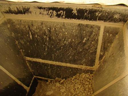 Пример футеровки бункера материалом Tivar BlueLine ESD
