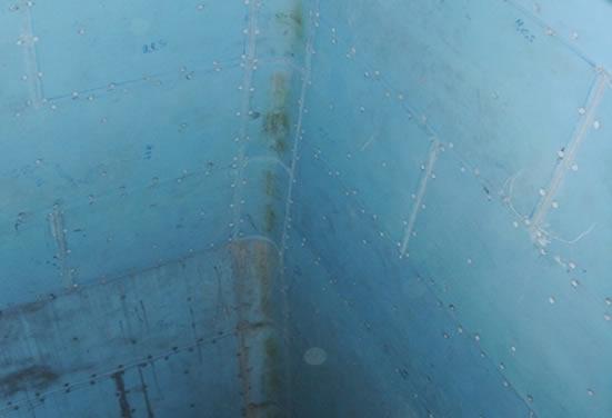 Пример футеровки бункера анти-адгезивным материалом Tivar BlueLine
