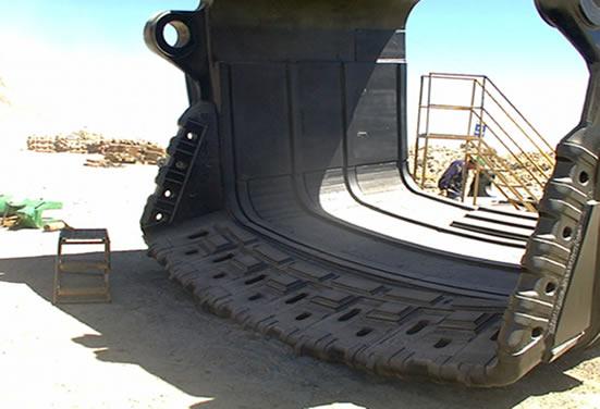 Ковш экскаватора с броней из износостойких листов Durmat CP 960
