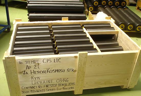 Упаковка роликов EU-Roller перед отгрузкой клиенту
