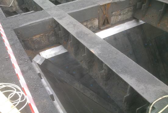 Приемочный бункер с установленным Tivar BlueLine ESD