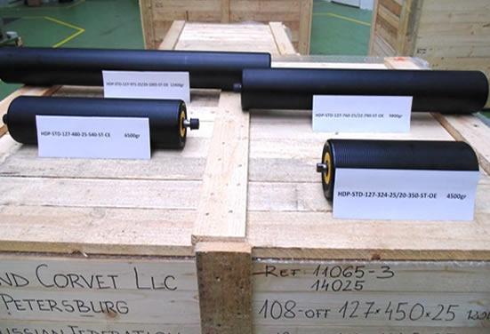 Упаковка конвейерных роликов EU-Roller для транспортировки