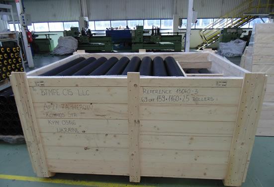 Поставка конвейерных роликов EU-Roller для Агломерационного цеха металлургического комбината