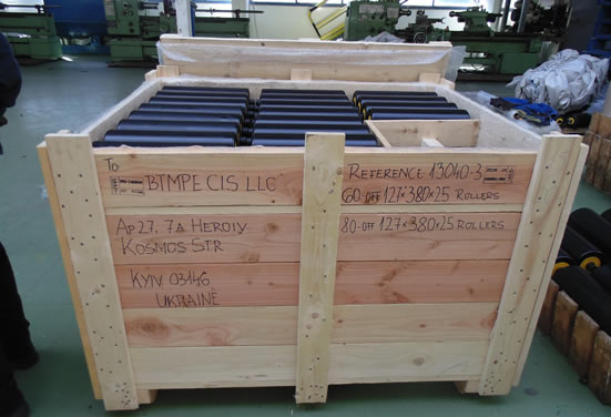 Поставка конвейерных роликов EU-Roller для Доменного цеха металлургического комбината